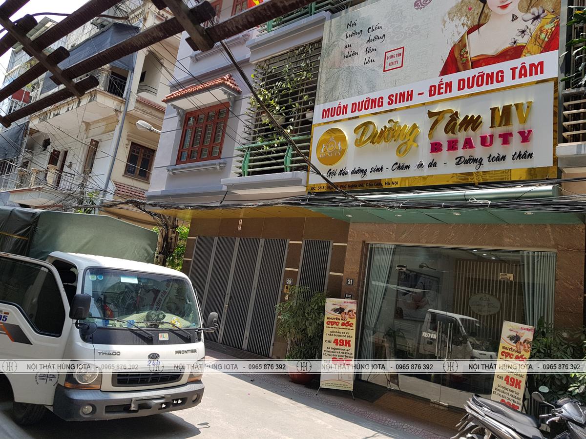 Lắp đặt nội thất dưỡng sinh đông y cho Dưỡng Tâm Beauty ở Hoàng Quốc Việt