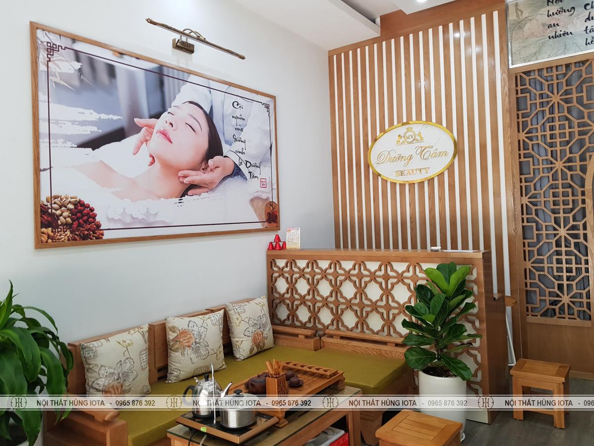 Lắp đặt nội thất dưỡng tâm Beauty dưỡng sinh đông y ở Hoàng Quốc Việt, Cầu Giấy
