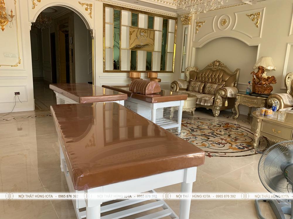 Lắp đặt nội thất spa Kinh Đô Spa ở Móng Cái, Quảng Ninh