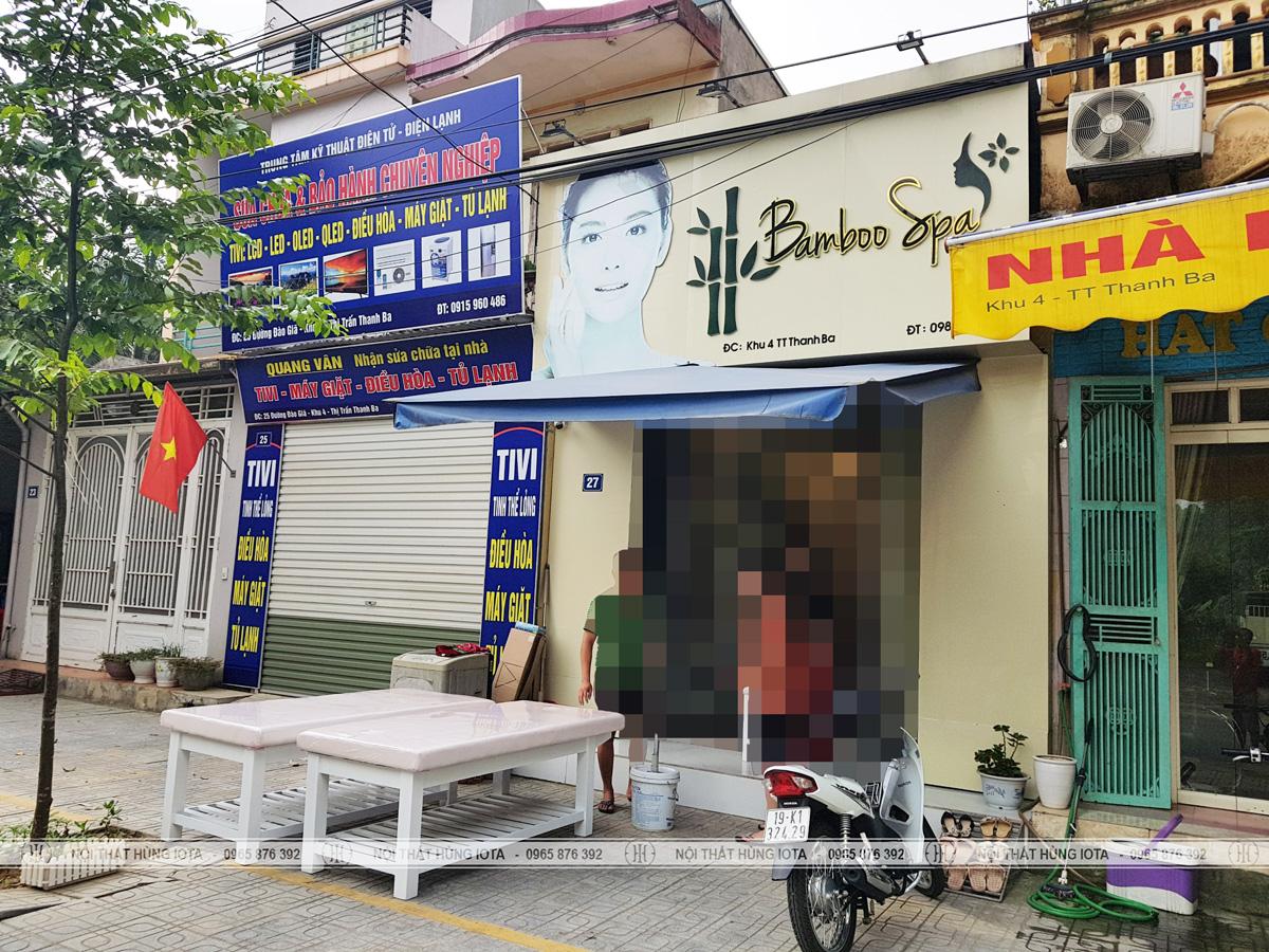 Lắp đặt nội thất spa cho Bamboo Spa ở Phú Thọ