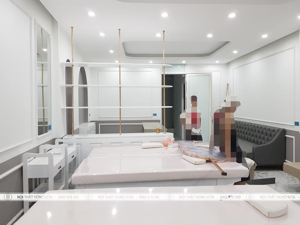 Lắp đặt tủ spa cho Last Spa ở Uy Nỗ Đông Anh