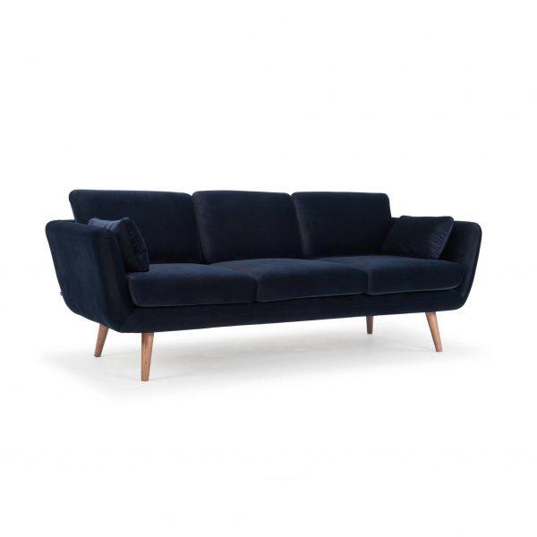 Sofa chung cư màu xanh navy đẹp sang trọng