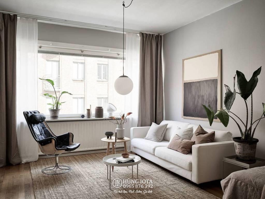 Sofa chung cư decor đẹp giá rẻ cho phòng khách gia đình màu trắng