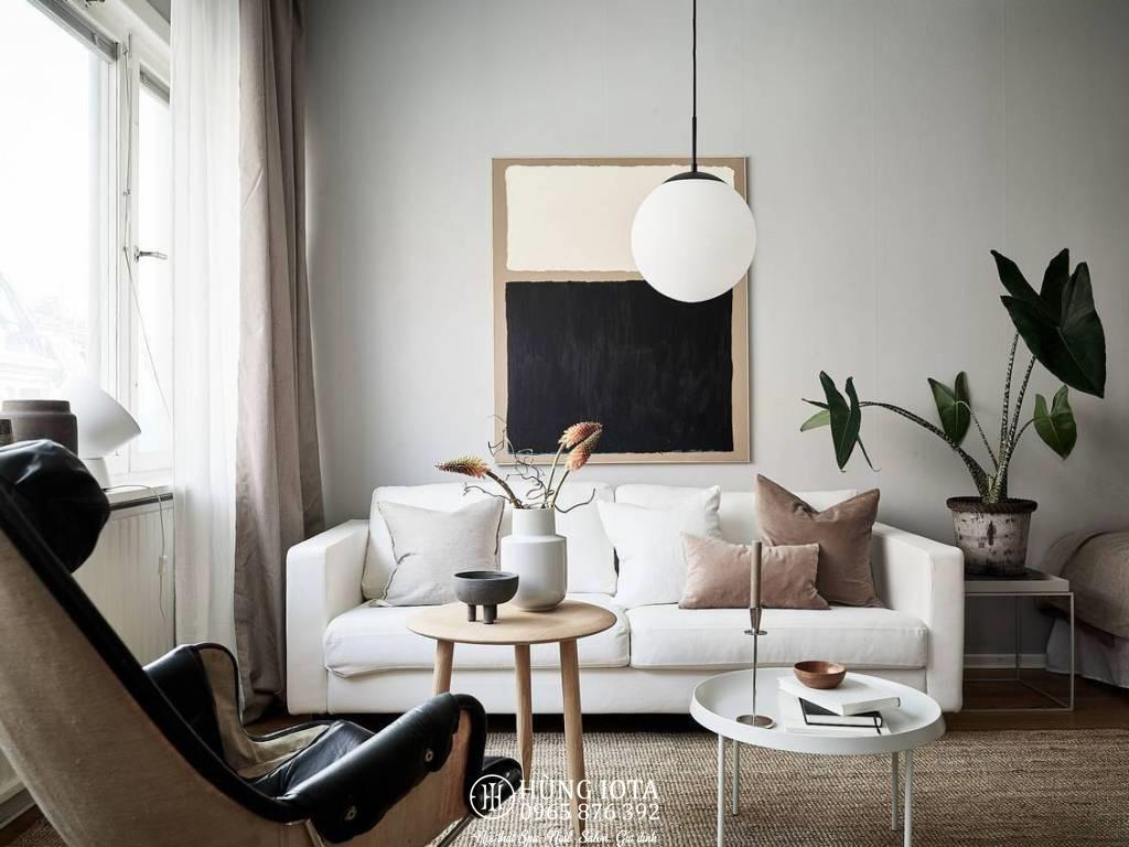 Sofa chung cư đẹp giá rẻ tại xưởng màu trắng phong cách decor