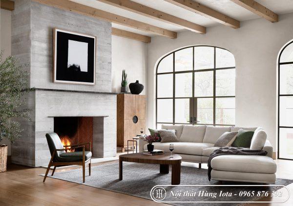 Sofa chung cư hình chữ V , ghế sofa gia đình chữ V đẹp