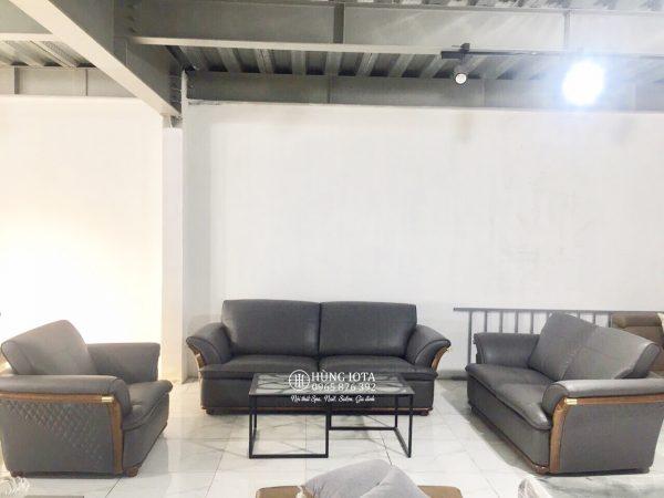 Sofa chung cư nhập khẩu phong cách hiện đại màu xám đen