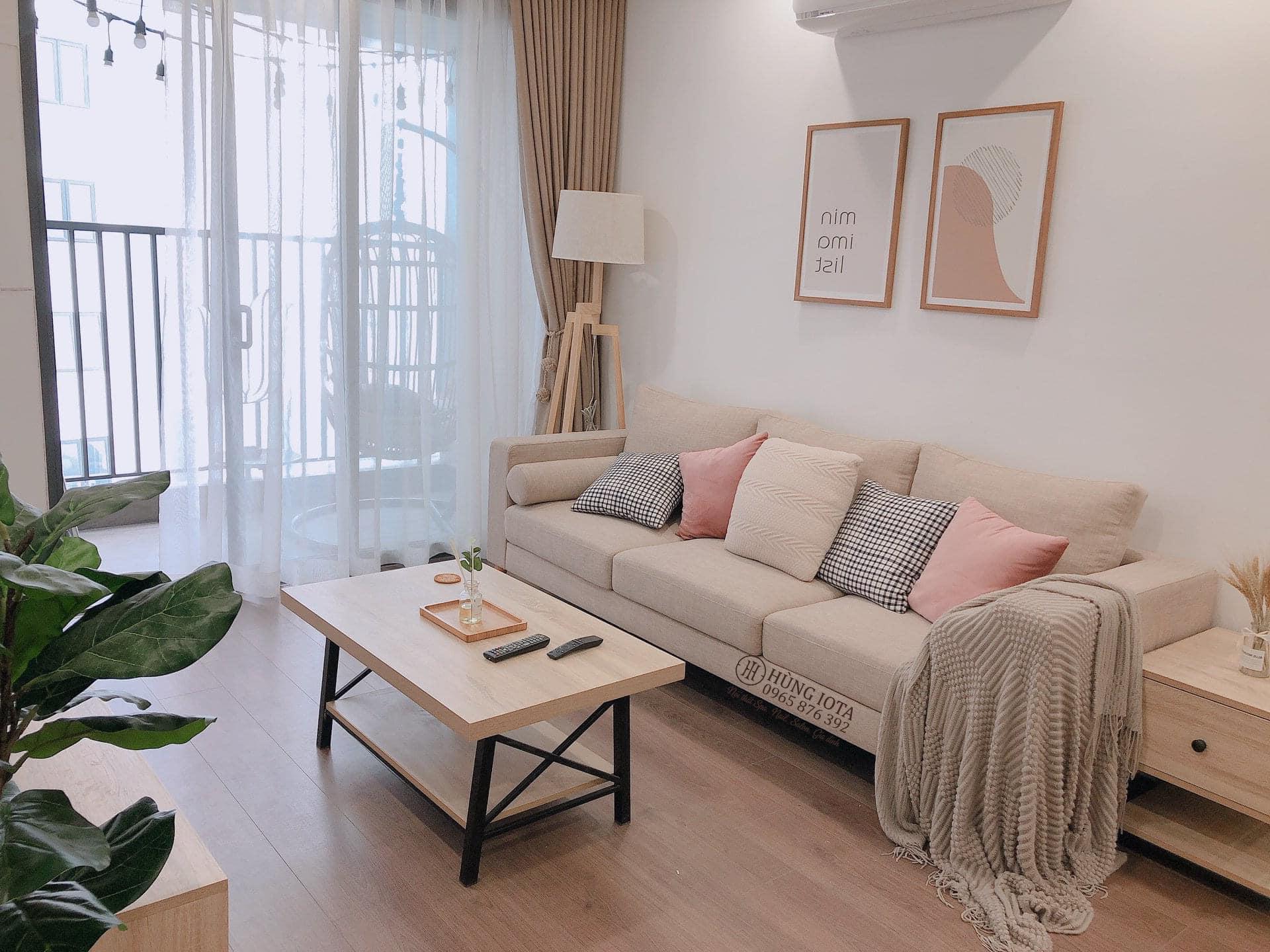 Sofa chung cư phong cách decor đẹp đơn giản giá rẻ