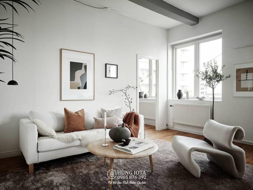 Sofa gia đình decor màu trắng đẹp giá rẻ