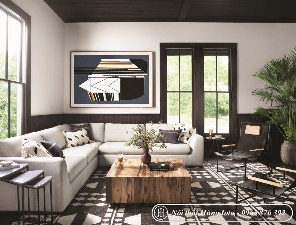Sofa gia đình góc vuông đẹp sang trọng