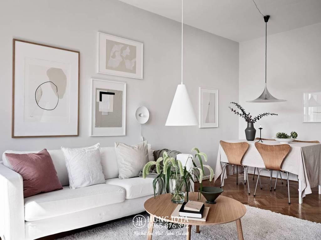 Sofa gia đình màu trắng decor đẹp giá rẻ, sofa nail, sofa spa