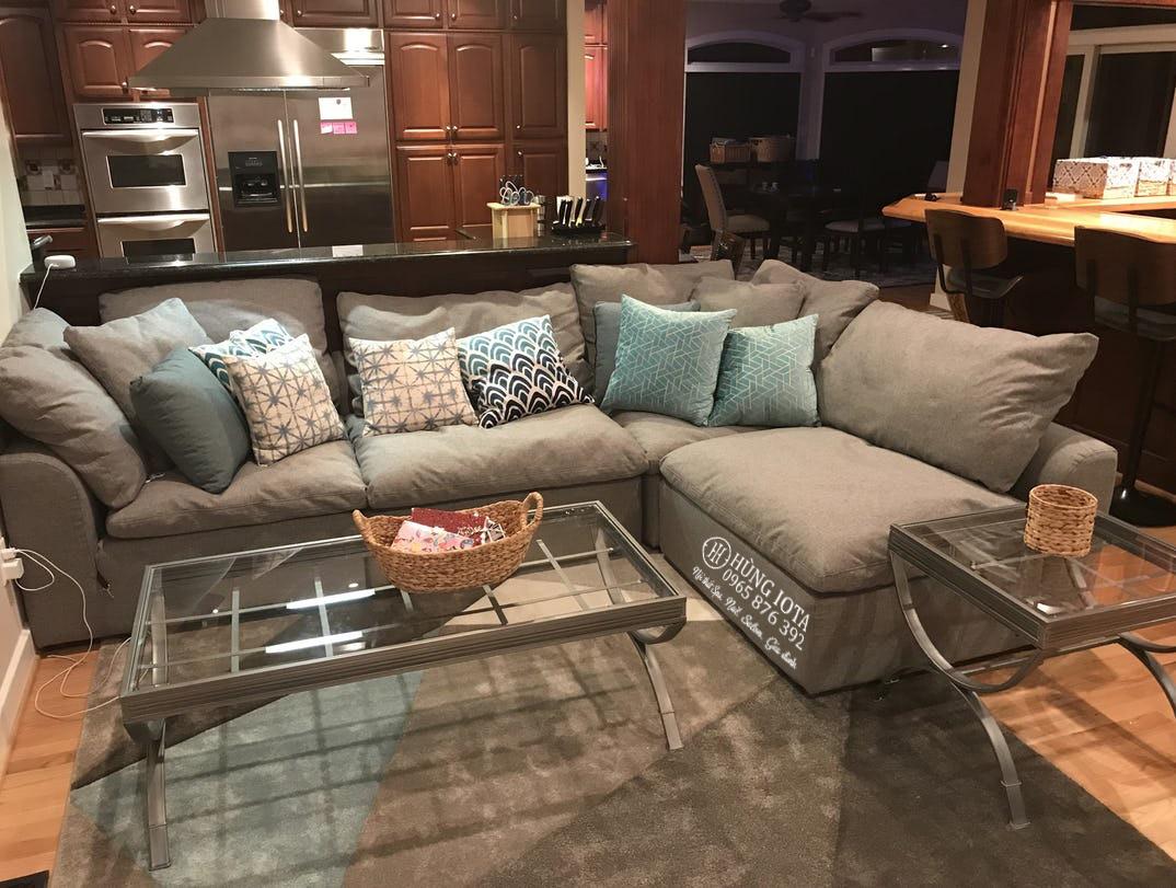 Sofa màu xám cho chung cư kiểu dáng chữ L hay sofa gia đình chữ L đẹp