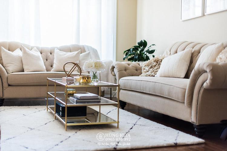 Sofa nail tân cổ điển đẹp giá rẻ cho chung cư