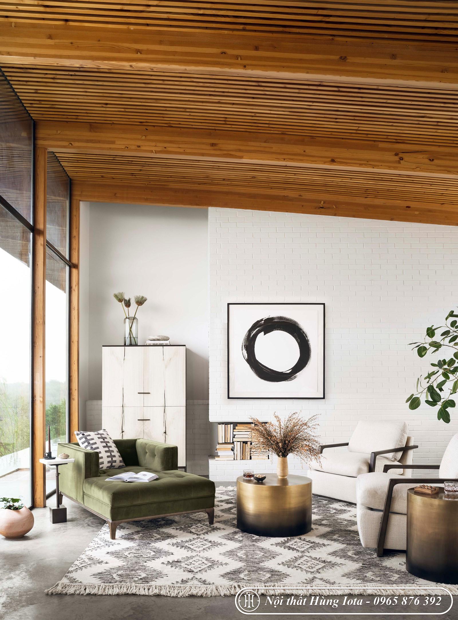 Sofa nằm - ngồi thư giãn cho chung cư gia đình đẹp giá rẻ