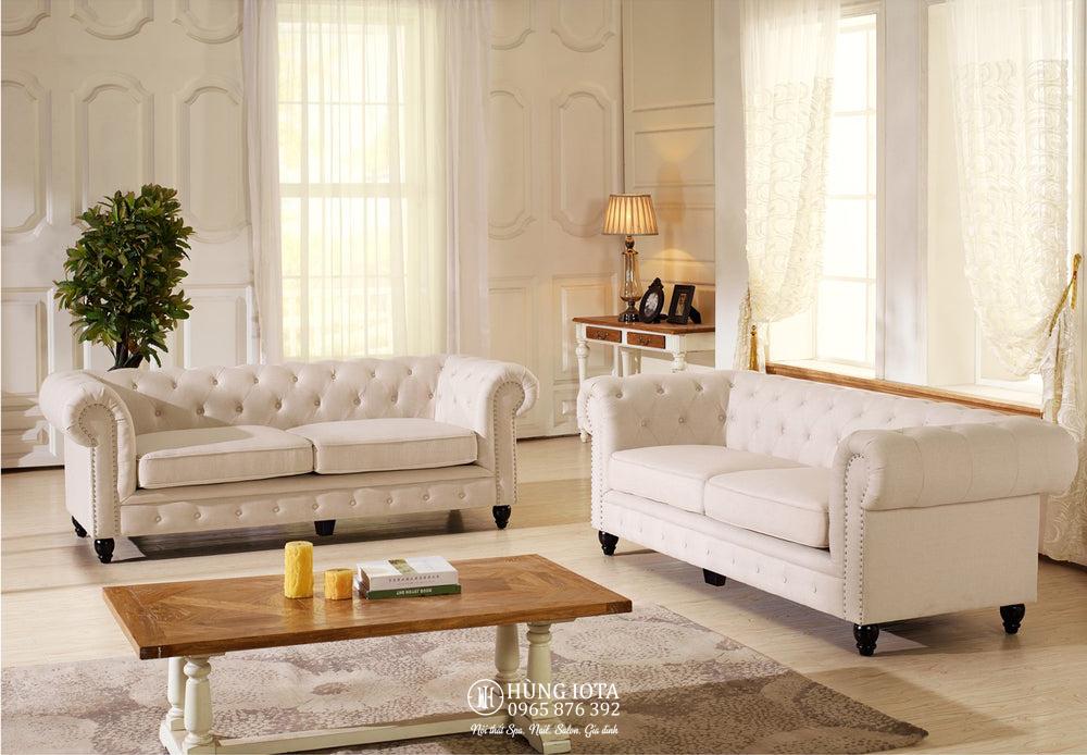 Sofa spa tân cổ điển, sofa chung cư tân cổ điển đẹp giá rẻ