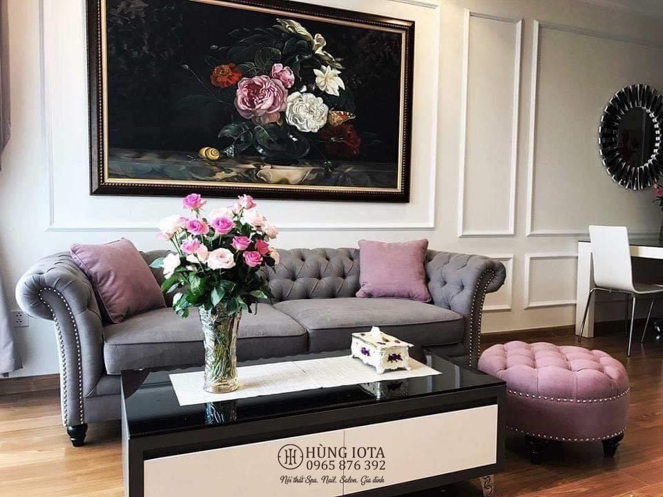 Sofa tân cổ điển cho phòng khách gia đình đẹp