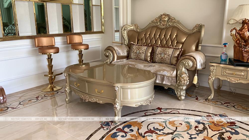Sofa tân cổ điển cho thẩm mỹ viện đẹp sang trọng
