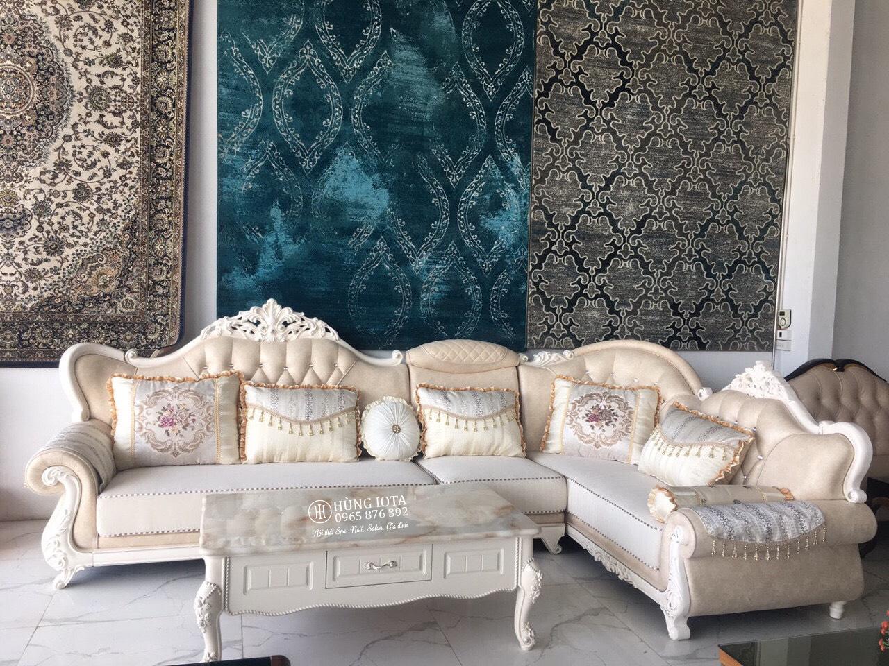 Sofa tân cổ điển nhập khẩu đẹp cho biệt thự sang trọng