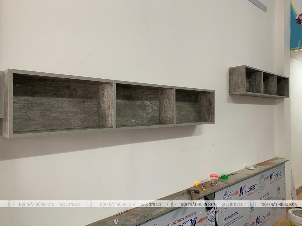 Tủ đựng khăn treo tường màu bê tông đẹp giá rẻ