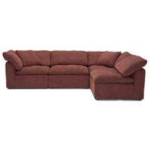 Sofa chung cư chữ L màu đỏ gạch chất nỉ SFGD11