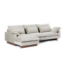 Sofa chung cư kiểu chữ L hay sofa gia đình màu xám SFGD03