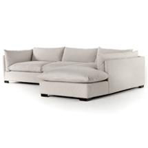 Sofa chữ L cho chung cư, cho gia đình chất nỉ thô xước SFGD05