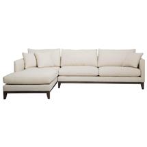 Ghế sofa chung cư chữ L màu trắng hồng SFGD06