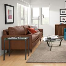 Sofa chung cư bọc da vuông đẹp decor SFGD17