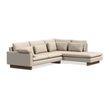 Sofa gia đình chữ L chất nỉ cho chung cư màu trắng sứ SFGD01