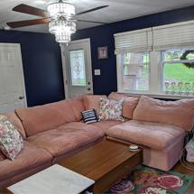 Sofa chung cư chữ L màu hường SFGD10