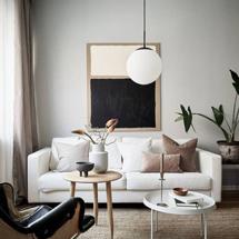 Sofa chung cư decor đẹp giá rẻ màu trắng SFGD20