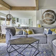 Sofa chung cư màu tím nhạt chữ L cho gia đình SFGD08