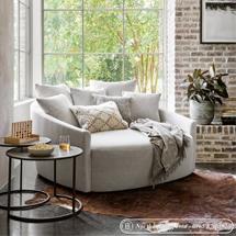 Sofa ôm gia đình to màu trắng đục SFGD24