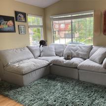 Sofa chung cư màu xám nhạt đep SFGD09