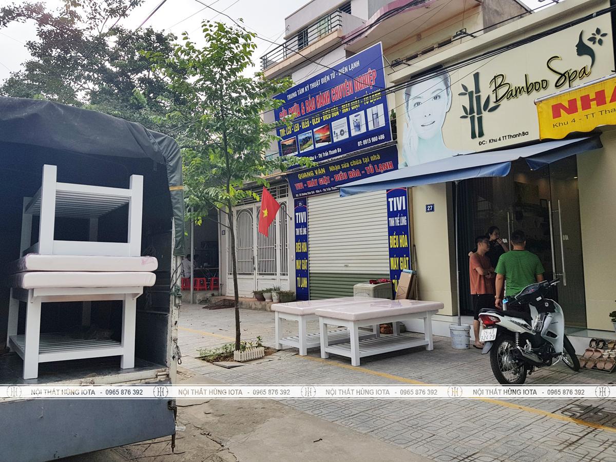 Vận chuyển lắp đặt nội thất spa tại Phú Thọ cho Bamboo Spa