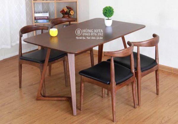 Bàn ghế ăn gia đình Fly và 4 ghế Bull decor đẹp giá xưởng