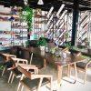 Bộ bàn ghế decor 6 ghế Katana, bàn chân chữ M đẹp sang trọng