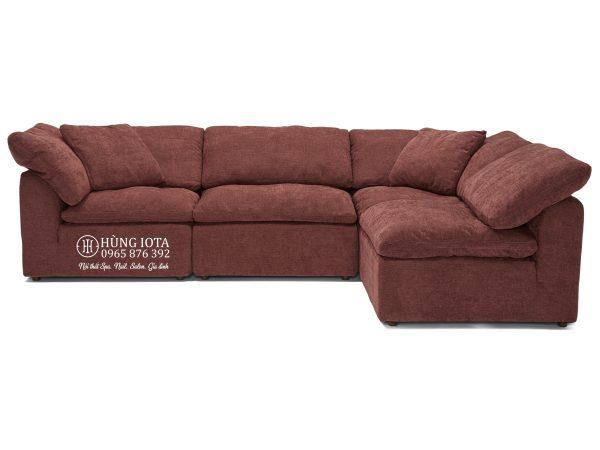 Ghế sofa chung cư chữ L màu đỏ gạch đẹp