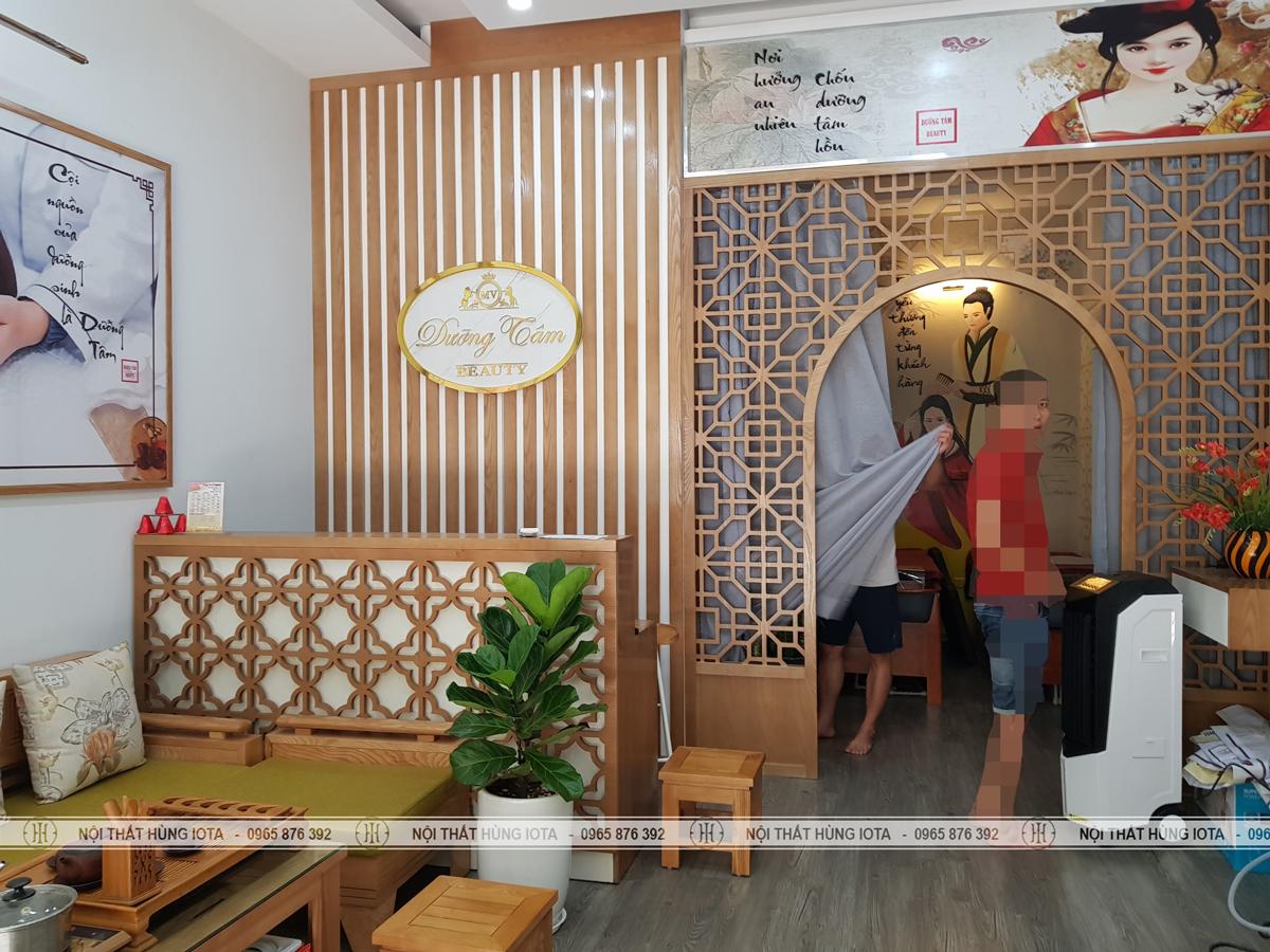 Lắp đặt nội thất dưỡng sinh đông y ở Cầu Giấy cho Dưỡng Tâm MV Beauty