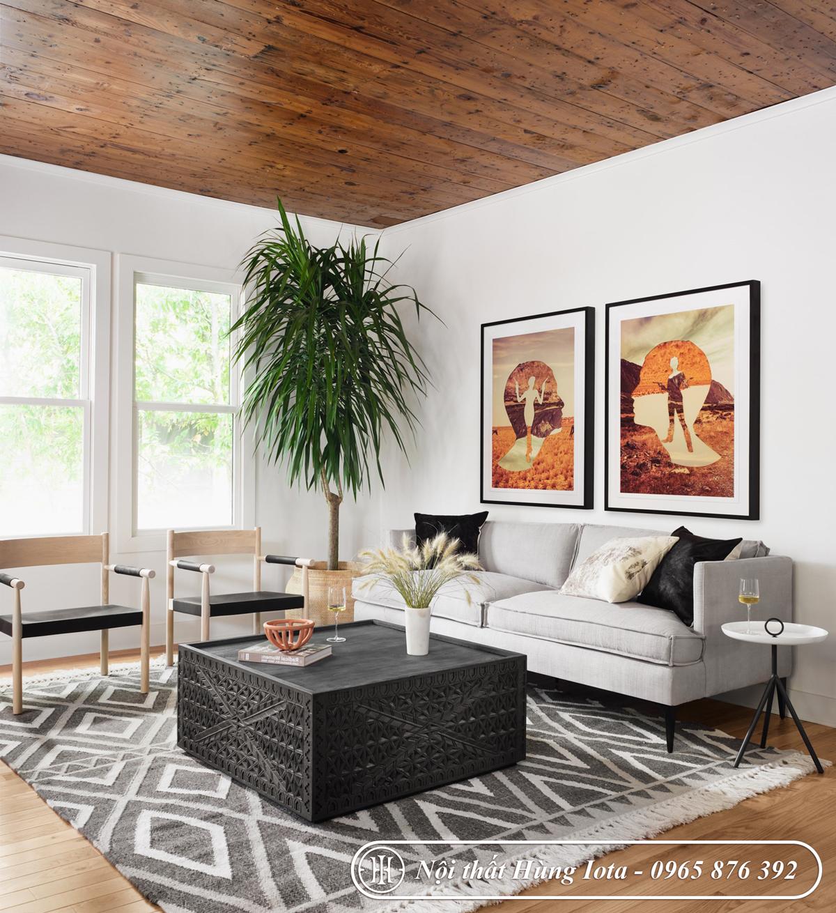 Sofa gia đình màu trắng đục đẹp giá rẻ