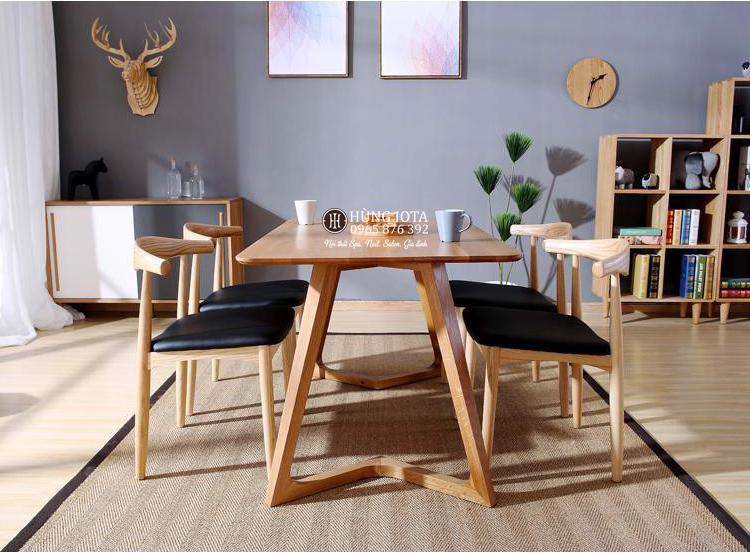 Bộ bàn ghế ăn Elbow decor đẹp giá rẻ cho chung cư 4 ghế