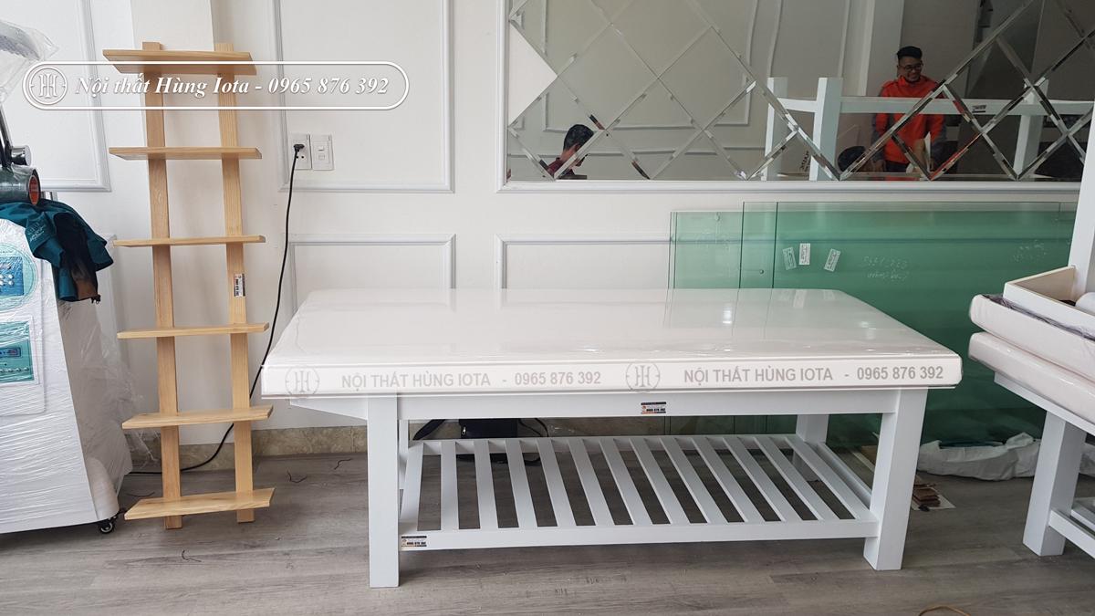 Đệm giường spa, đệm giường massage màu trắng đẹp giá rẻ