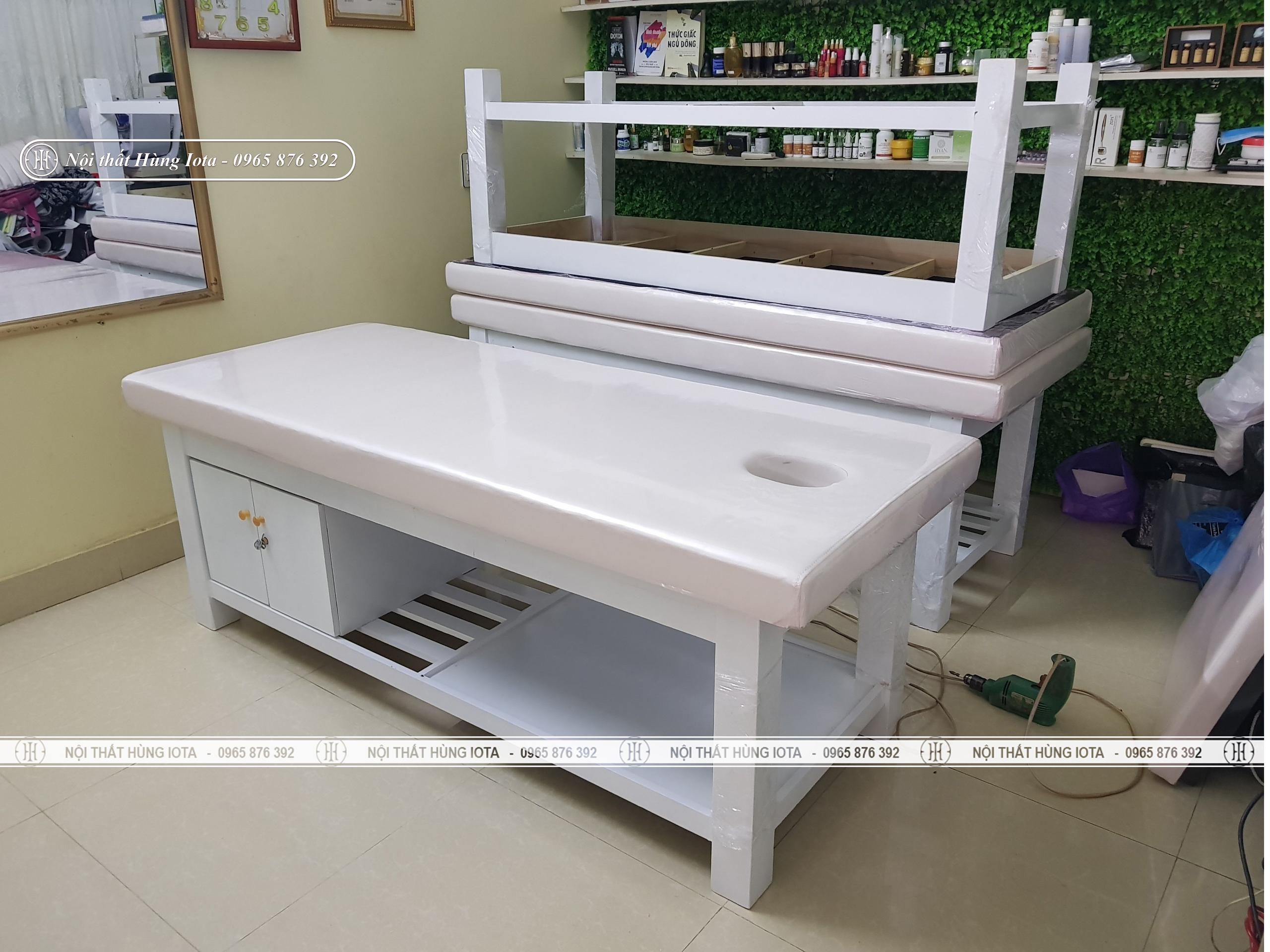 Giường spa thiết kế mới 2020 lắp đặt ở Bắc Giang