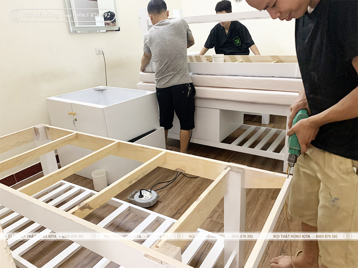 Lắp đặt giường spa tại Nguyễn Tuân, Thanh Xuân cho Cẩm Vân Spa