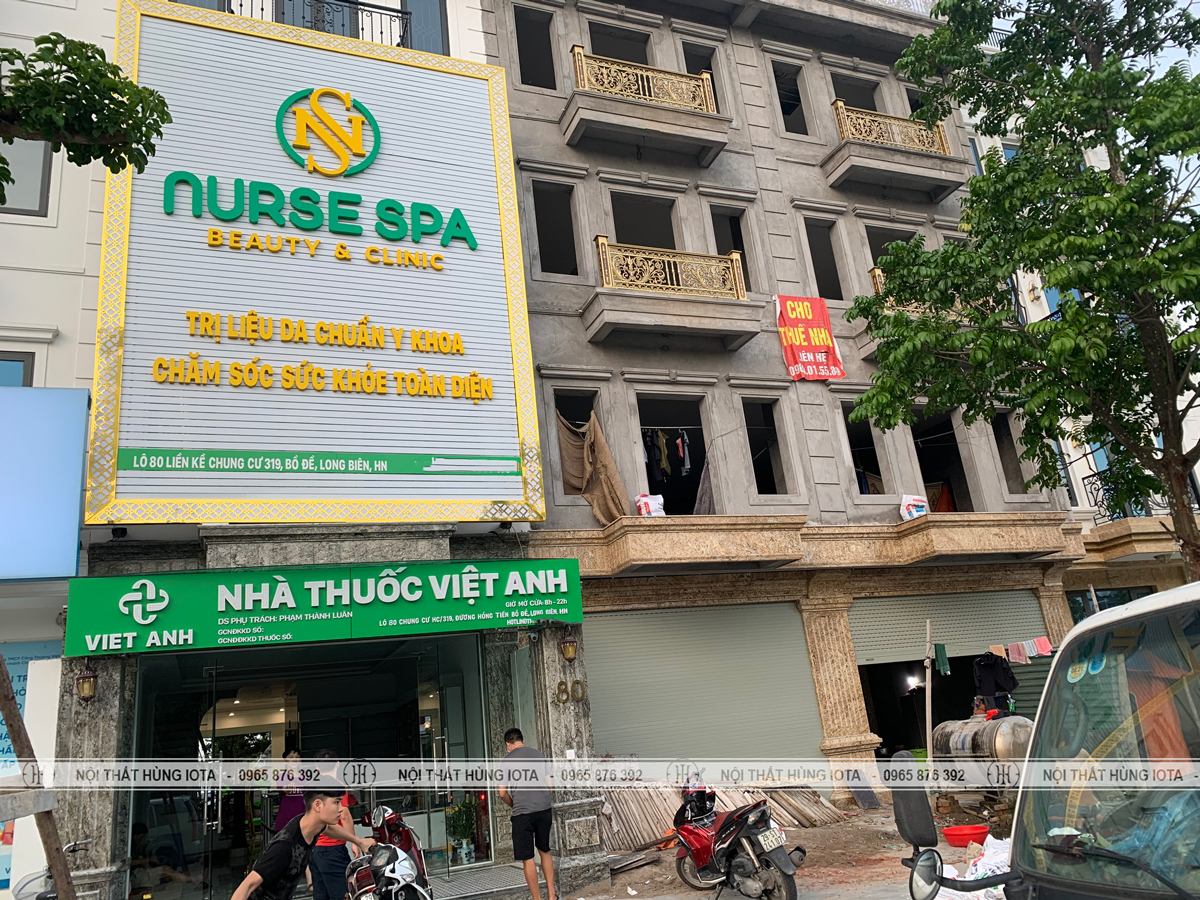 Lắp đặt nội thất Nurse Spa Beauty Clinic ở Long Biên