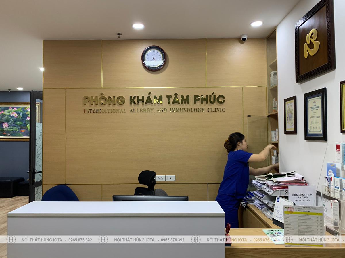 Lắp đặt nội thất phòng khám trị liệu Tâm Phúc ở Hoàng Mai