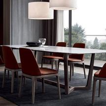 Bàn ghế ăn chung cư 6 ghế Grace, bàn mặt đá BGA06