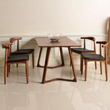 Bộ bàn ăn chung cư 4 ghế Elbow decor đẹp BGA05