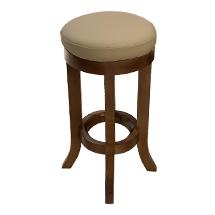Ghế gỗ spa tròn chân quỳ màu óc chó GKTV07