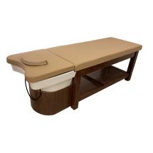 Giường spa 2 in 1 màu óc chó hay giường gội dưỡng sinh GGD07