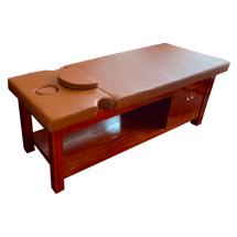 Giường spa massage màu đỏ gỗ hương cao cấp GSP42